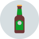 Free beer bottle flat 128x128 icon & Download free icons for commercial use