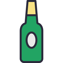 Free beer bottle outline filled icon & Download free icons for commercial use