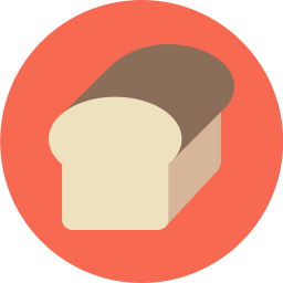 Free bread flat icon & Download free icons for commercial use