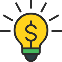 Free bulb money curvy outline filled icon & Download free icons for commercial use