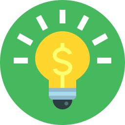 Free bulb money flat icon & Download free icons for commercial use