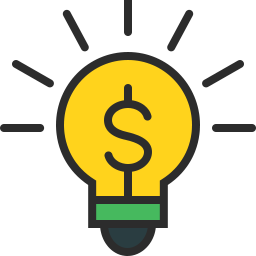 Free bulb money outline filled icon & Download free icons for commercial use