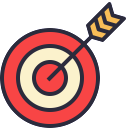 Free bullseye outline filled 128x128 icon & Download free icons for commercial use