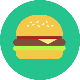 Free burger flat icon & Download free icons for commercial use