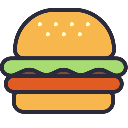 Free burger outline filled icon & Download free icons for commercial use