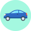 Free car flat 128x128 icon & Download free icons for commercial use
