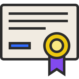 Free certificate outline filled icon & Download free icons for commercial use