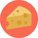Free cheese flat 128x128 icon & Download free icons for commercial use