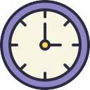 Free clock outline filled 128x128 icon & Download free icons for commercial use