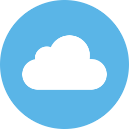 Image result for cloud flat icon circle