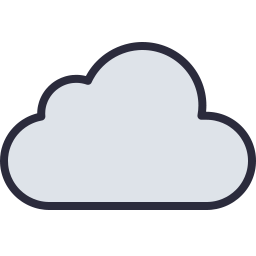 Free cloud outline filled icon & Download free icons for commercial use