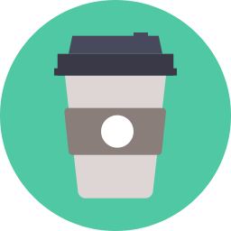 Free coffee takeaway flat icon & Download free icons for commercial use