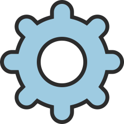 Free cog outline filled icon & Download free icons for commercial use