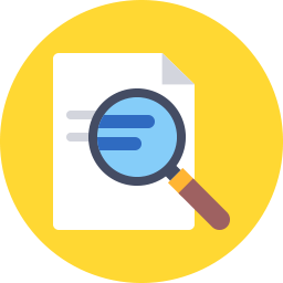 Free document search flat icon & Download free icons for commercial use