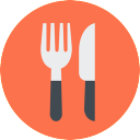 Free Eat Icon Flat & Download free icons for commercial use