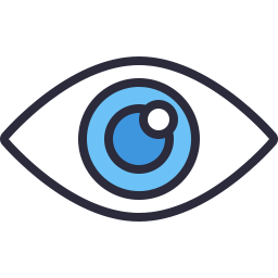 Free eye outline filled icon & Download free icons for commercial use