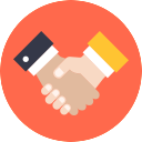 Free handshake flat 128x128 icon & Download free icons for commercial use