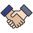 Free handshake outline filled 128x128 icon & Download free icons for commercial use
