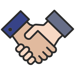 Free handshake outline filled icon & Download free icons for commercial use