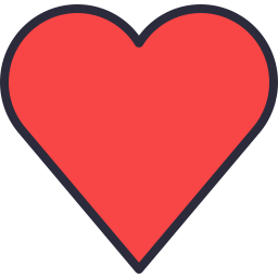 Free heart compact outline filled icon & Download free icons for commercial use