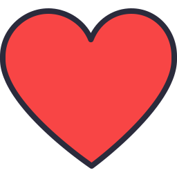 Free heart outline filled icon & Download free icons for commercial use