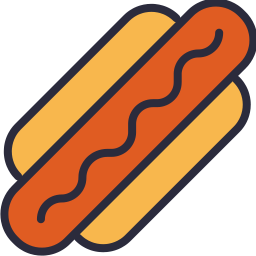 Hotdog Icon Outline Filled - Icon Shop - Download free icons