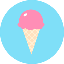 Free ice cream cone flat icon & Download free icons for commercial use
