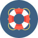 Free Lifesaver Icon Flat & Download free icons for commercial use