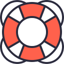 Free Lifesaver Icon Outline Filled & Download free icons for commercial use