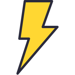 Free lightning outline filled icon & Download free icons for commercial use