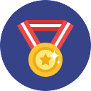 Free medal flat 128x128 icon & Download free icons for commercial use