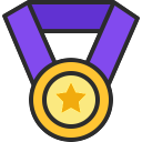 Free Medal Icon Outline Filled & Download free icons for commercial use