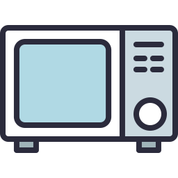 Free Microwave Outline Filled Icon Icons For Commercial Use