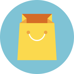 Shopping Bag Icon Flat - Icon Shop - Download free icons for ...
