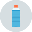 Free water bottle flat 128x128 icon & Download free icons for commercial use
