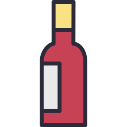 Free wine bottle outline filled icon & Download free icons for commercial use
