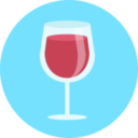 Free wine glass flat 128x128 icon & Download free icons for commercial use