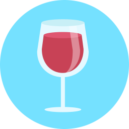 Free wine glass flat icon & Download free icons for commercial use